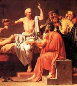 La mort de Socrate - tableau de Jacques-Louis David